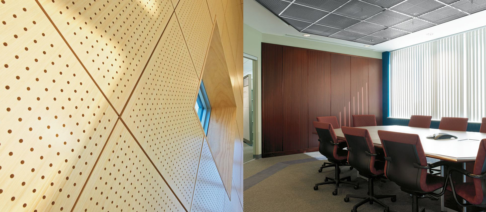NH MA Acoustic Wall Panels fabrics woods metals translucent walls partitions